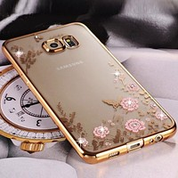 Bling Diamond Clear Case for Samsung S8 S9 A8 A6 J4 J6 plus A7 2018 Silicone TPU Cover Fundas For Note 9 8 J3 J5 J7 A5 A3 S7 S6