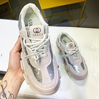 GUCCI Hot Sale Women Personality Sequins Sneakers Sport Running Shoes
