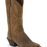 Justin Silver Distressed Cowgirl Boots - Snip Toe - Sheplers