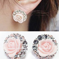 Roses circle diamond  Ear clip