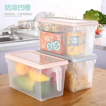 Creative Nordic Refrigerator Storage Box Kitchen Household Plastic Storage Box Storage Box