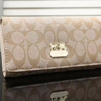 shosouvenir  COACH  Women Leather Zipper Wallet Purse