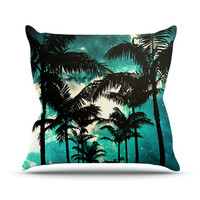 """Caleb Troy """"Palm Trees & Stars"""" Outdoor Throw Pillow"""