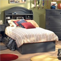 "South Shore Furniture, Summer Breeze Collection, Twin Mates Bed 39"", Blueberry"
