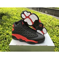 Air Jordan 13 Bred Black Red Sneaker Shoes 36-47