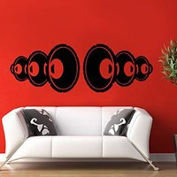 Wall Decal Vinyl Sticker Note Music Guitar Song Bedroom Living Room B270