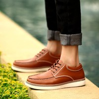 Men Casual Luxury Cats Leather Sneakers = 6450173379