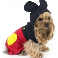 """Mouse """"Mickey"""" Costume For Dogs - Size 6 (16"""" l x 20.5"""" - 23.25"""" g)"""