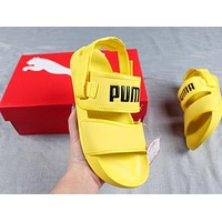 PUMA Leadcat YLM Lite Popular Women Men Casual Couple Slippers Sandals Shoes Yellow