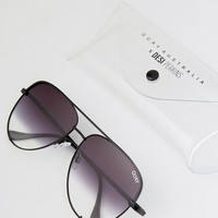 Quay Australia X Desi High Key Sunglasses In Black Fade at asos.com