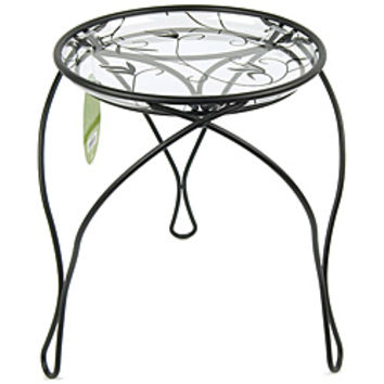"""'The Elegance' Plant Stand, Black (13"""" Inches)"""