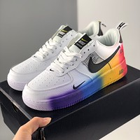 Nike Air Force 1 Fashion colorful low - top casual sports shoes men and women