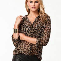 Leopard Print Casual Shirts Tops