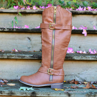 SZ 5.5 Saddle Creek Tan Riding Boots