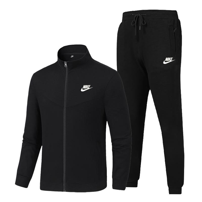 Image of Nike autumn and winter new simple pure color sports suit two-piece suit