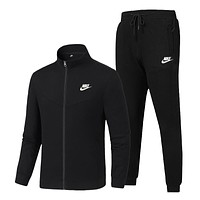Nike autumn and winter new simple pure color sports suit two-piece suit