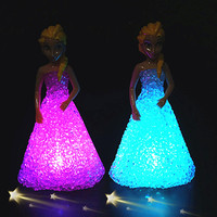 Anna Elsa Toys Doll Ice Snow Queen 7 LED Color Baby Doll Toys For Girls Baby Doll Toys For Girls FW111