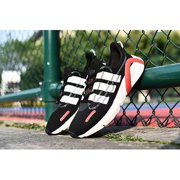 Adidas Lxcon Unisex Casual Fashion Retro Running Shoes Black White Red
