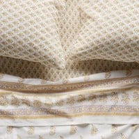Kerry Cassill Gold Paisley Sheet Set by Kerry Cassill in Gold