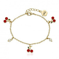Cherry Delight Cherries and pearl bracelet
