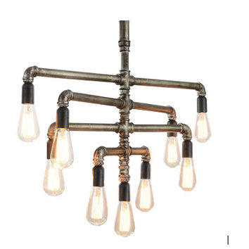 Edison Bulb Chandelier - Nine Layers
