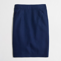 Factory petite pencil skirt in double-serge cotton