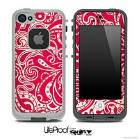Red Abstract Floral Design Skin for the iPhone 5 or 4/4s LifeProof Case