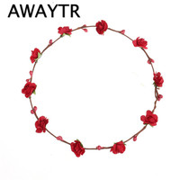 Floral Headbands for Women 2017 Fashion Simple Paper Flower Hair Accessories Crown for Party Wedding Hair Wreaths Hair Bands