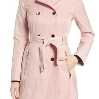 GUESS Piped Trench Coat | Nordstrom