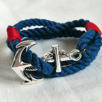 Anchor Bracelet Nautical Bracelet Anchor Jewelry Nautical Jewelry Anchor charm Christmas gift