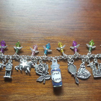 Disney beauty and the beast true love inspired charm bracelet