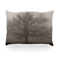 "Angie Turner ""Lonely Tree"" Dark Fog Oblong Pillow"
