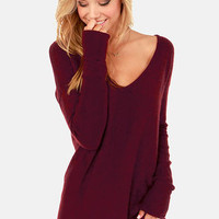 Ready or Knit Burgundy Sweater
