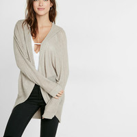 Textured Stitch Hooded Cocoon Cover-Up