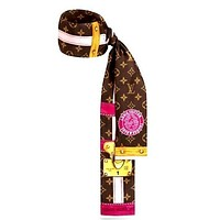 LV new women's wild double-layer headband tie Scarf