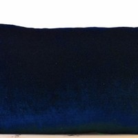 Amore Beaute Handcrafted Decorative Pillow Covers in Peach, Emerald Green, Navy Blue, Hot Pink, Chocolate Brown, Olive Green Velvet and Oatmeal Linen - Couch Pillow Cover - Sofa Pillow Cover - 12x20 Lumbar Pillow Cover - Velvet Cushion Cover - Wedding - An