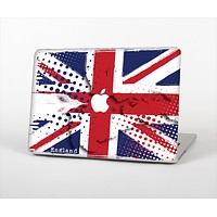 "The Grunge Vector London England Flag Skin Set for the Apple MacBook Pro 13"" with Retina Display"
