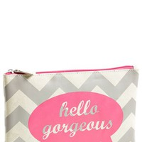 BAMKO 'Hello Gorgeous' Flat Pouch Cosmetics Bag (Limited Edition) (Nordstrom Exclusive)