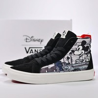 VANS SK8-Hi Old Skool Woman Men Fashion Mickey Mouse Sneakers Sport Shoes