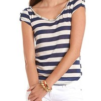 Lace Inset Racerback Tee: Charlotte Russe