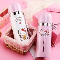 Cretive Hello Kitty Stainless Steel Double Wall Vacuum Flask Coffee Mug Travel Tumbler Water Bottle Insulated Thermos Car Cup
