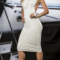 Enticing Strappy Nude Dress
