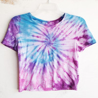 Tie Dye Crop Top Tye Dye Cropped Top Hippie 70s Tumblr Hipster