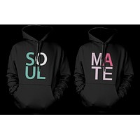Soul Mate Cute Matching Couple Hoodies Great Gift Idea for Couples