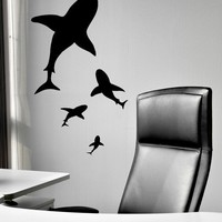 Shark Bellies Vinyl Wall Art Decal by VinylWallAccents on Etsy