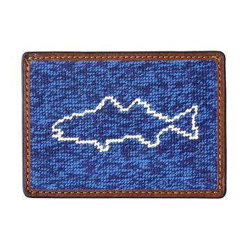 Fish on the Line Needlepoint Credit Card Wallet by Smathers & Branson
