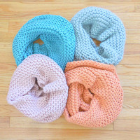 Chunky Knit Funnel Infinity Scarf