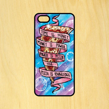 Pizza is Knowledge Art Phone Case iPhone 4 / 4s / 5 / 5s / 5c /6 / 6s /6+ Apple Samsung Galaxy S3 / S4 / S5 / S6