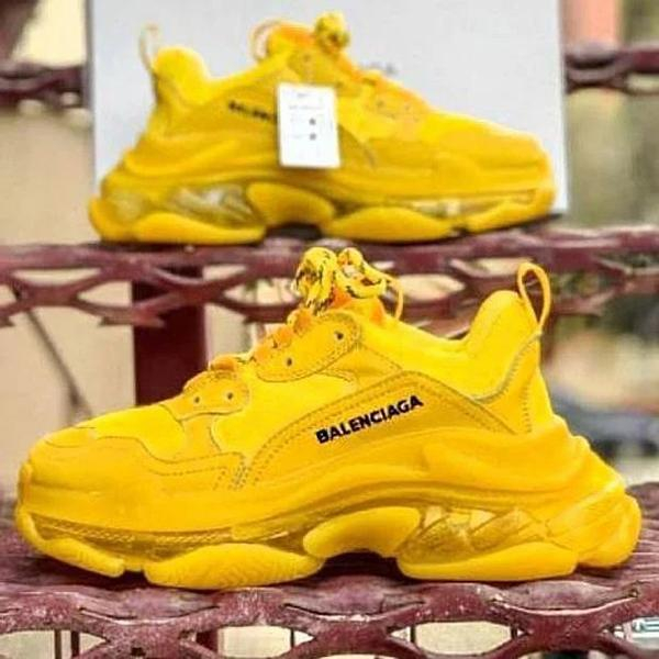 Image of Balenciaga Shoes High Quality Fashion Women Men Letters Contrast Crystal clear shoes Triple sole Shoes