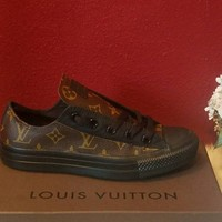 Upcycled Louis vuitton canvas converse